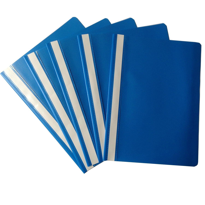 100 X Schnellhefter Din A4 Kunststoff Sichthefter Schul Hefter Blau