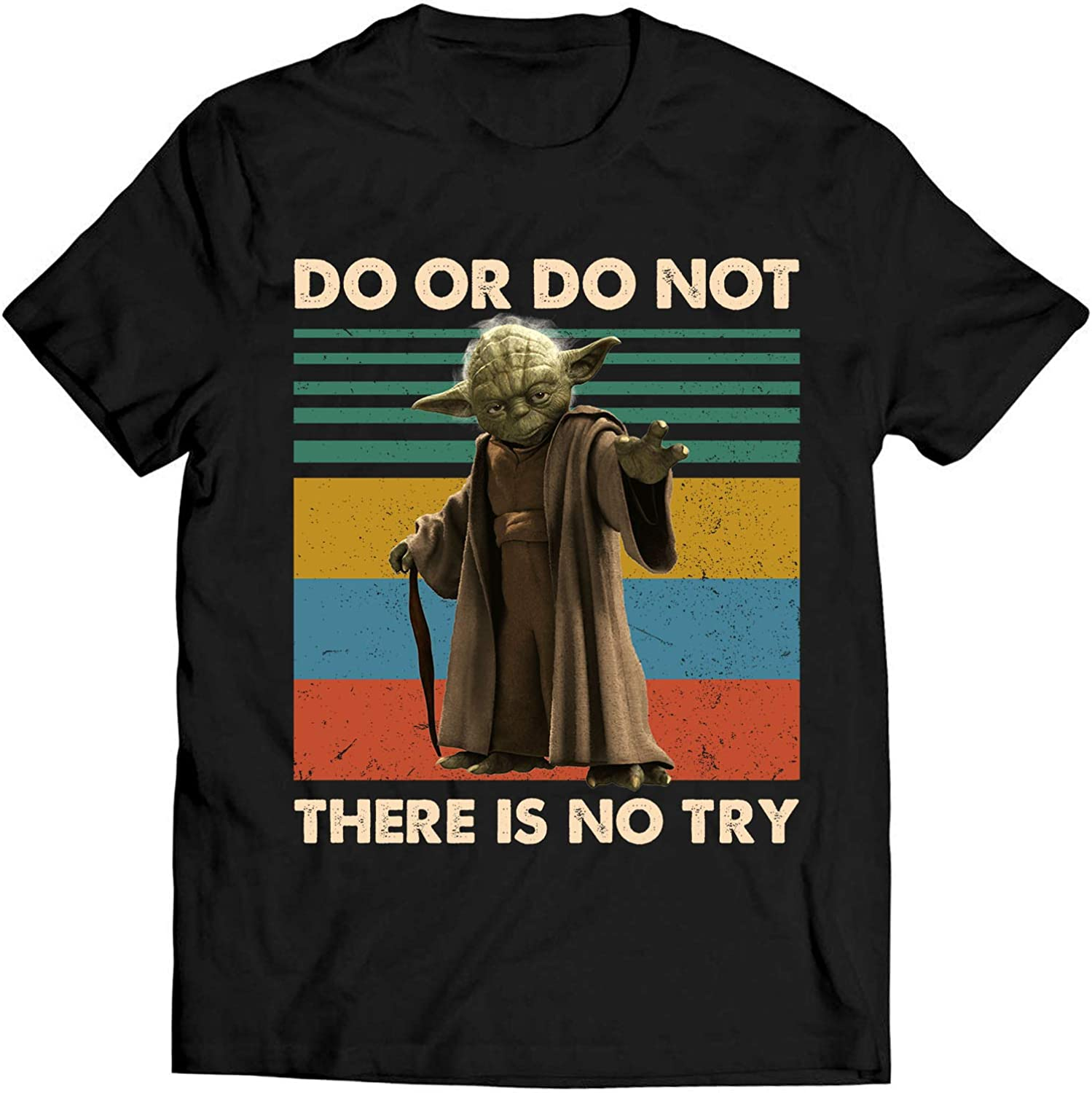 B07XYC12LV Yoda Lovers Do Or Do Not There is No Try Vintage T Shirt Star Lovers Wars Fan Movie T Shirt 71fNsFns6nL