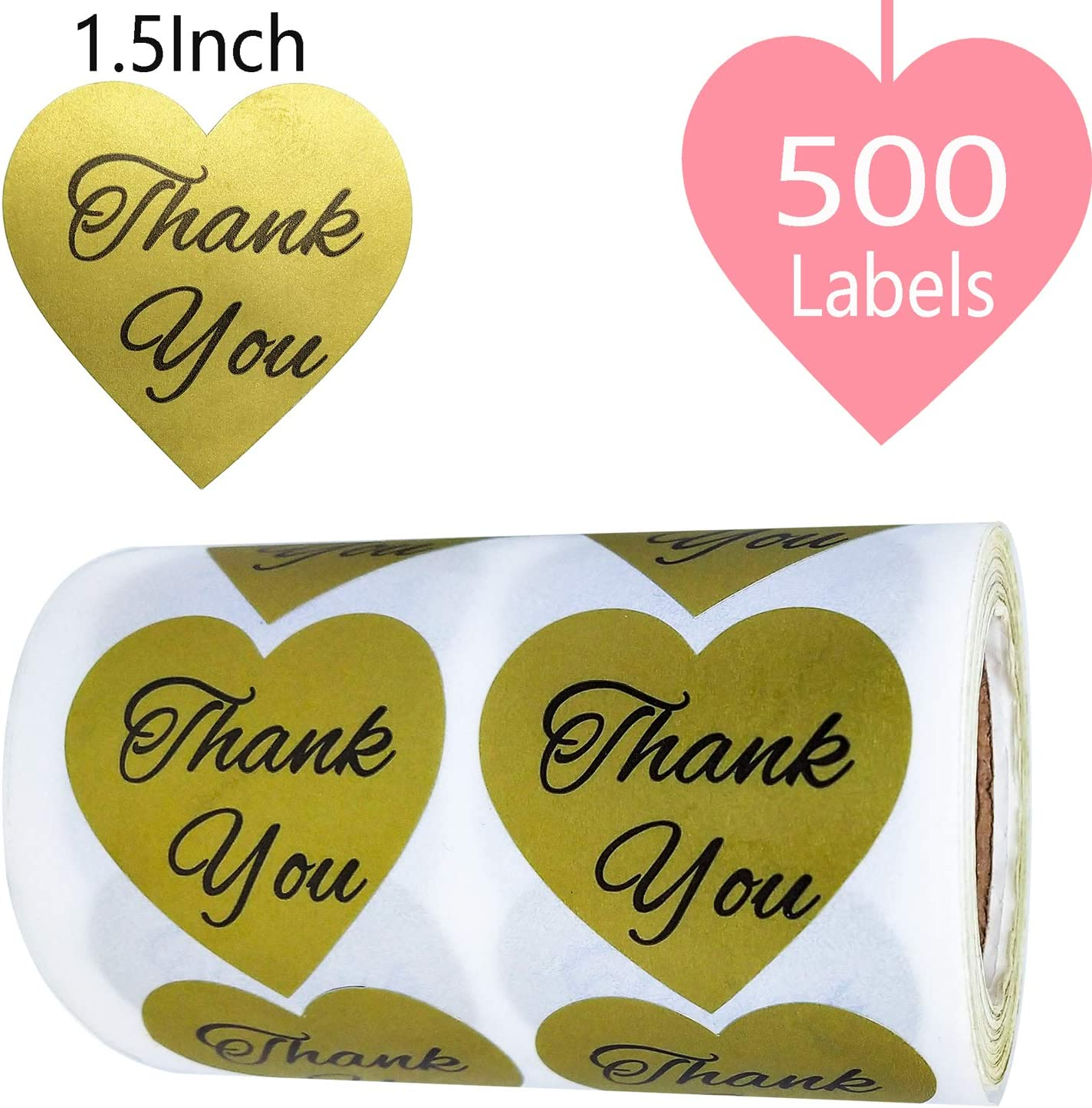 "Baby Shower Sticker Label Thank You Love Appreciation Party Favor Gift 1.5/"" Pink"