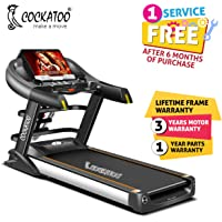 Cockatoo CTM-01 Semi Commercial 5 HP Peak Motorised Auto-Incline,Multi-Function Treadmill & Auto Lubrication (Free Installation Assistance)