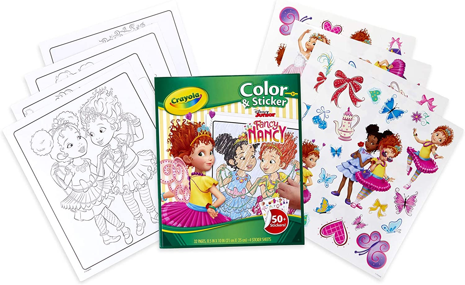 - Amazon.com: Crayola Fancy Nancy Coloring Pages & Sticker Sheets