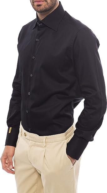 Billionaire Couture Mens Dress Shirt Dark Violet//Black tracery Model C FIT XL 43//17