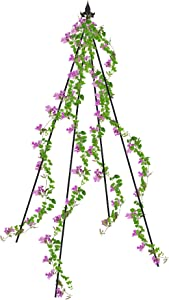 Petra Garden Trellis (2-Pack) 83-inch Black Iron Plant Support for Climbing Vines and Flowers, Rust-Resistant and Water-Resistant Trellis
