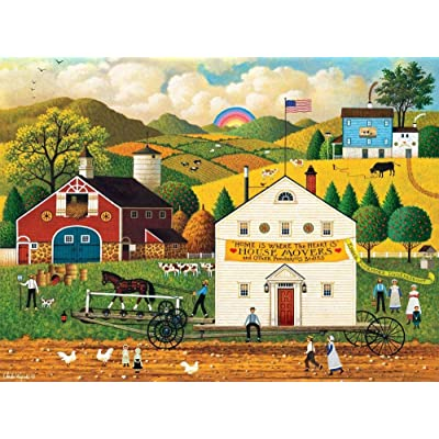 Charles Wysocki - House Movers - 1000 Piece Jigsaw Puzzle: Toys & Games