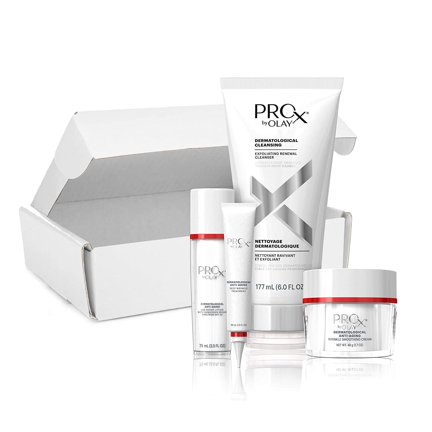 Day + Night Face Protocol Kit by Olay Pro-X, Gift Set for Women, Dermatologist-Designed, 12 years younger in 4 weeks