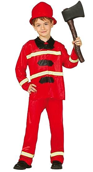 Guirca - Disfraz de bombero con traje y sombrero, para niños ...