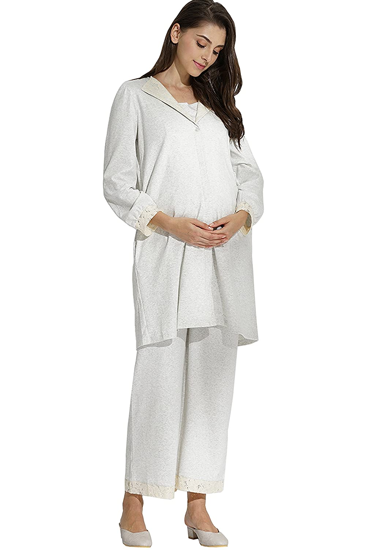 Sweet Mommy Maternity and Nursing 3 Piece Pajama Set sn7096