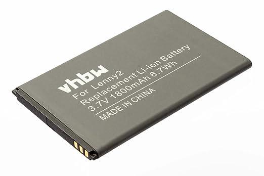 3 opinioni per vhbw Li-Ion Batteria 1800mAh (3.7V) per cellulari e smartphone Wiko Lenny 2
