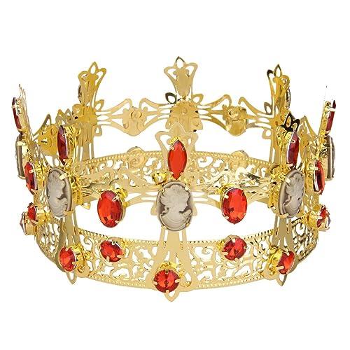 Cristal De Diamante De Imitación Tiara De La Corona Del Rey Del
