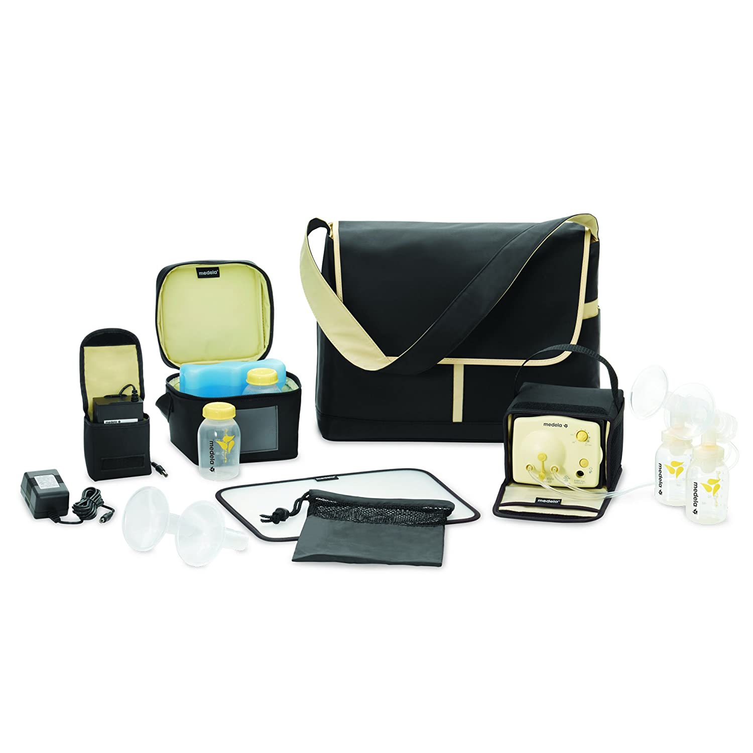 Medela Pump in Style Advanced Breast Pump, Double Electric Breast Pump Kit, Portable Battery Pack, Stylish Microfiber Messenger Bag, Removable Cooler, ...