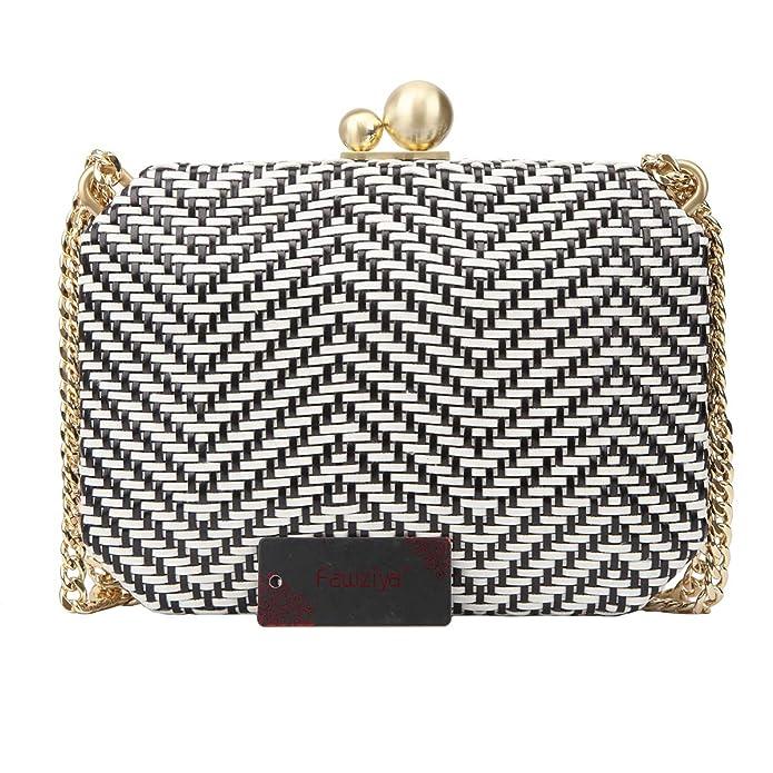 Amazon.com: Fawziya - Bolso de mano de tejido de bloque ...