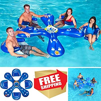 Exceptional Bar Pool Float With Four Seats,Floating Bar For Pool,Swimming Floats For  Adults