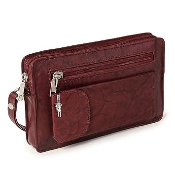 sac à main pour homme sacoche pochette cuir à mettre au poignet marron 10b701328b33