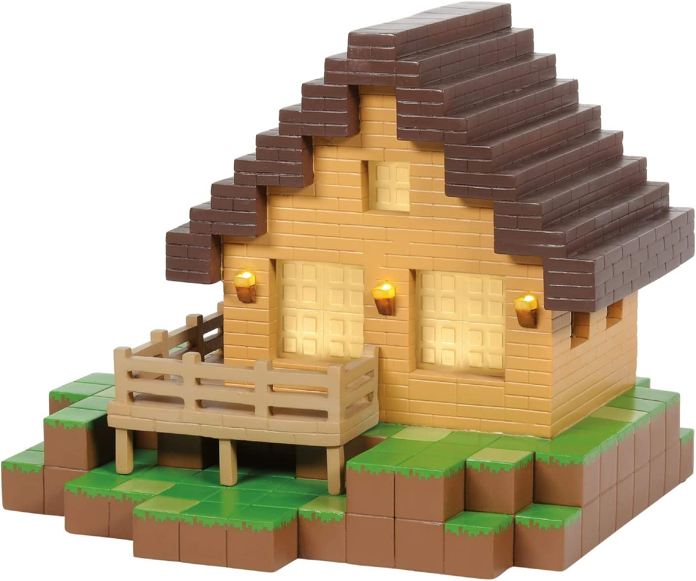 Amazon Com Department 56 Minecraft Village House Lit Building 6 375 Inch Multicolor Home Kitchen