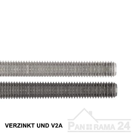 1 Stk Gewindestange DIN 975 Stahl M24 Linksgewinde Stahl verzinkt
