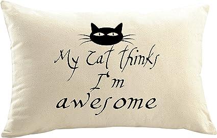 Mister funda de cojín almohada personalizada gato gatos resaca Cat Gato Mutti gato amantes yo y