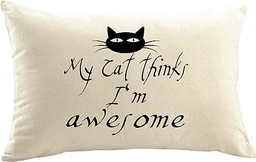 Mister funda de cojín almohada personalizada gato gatos ...