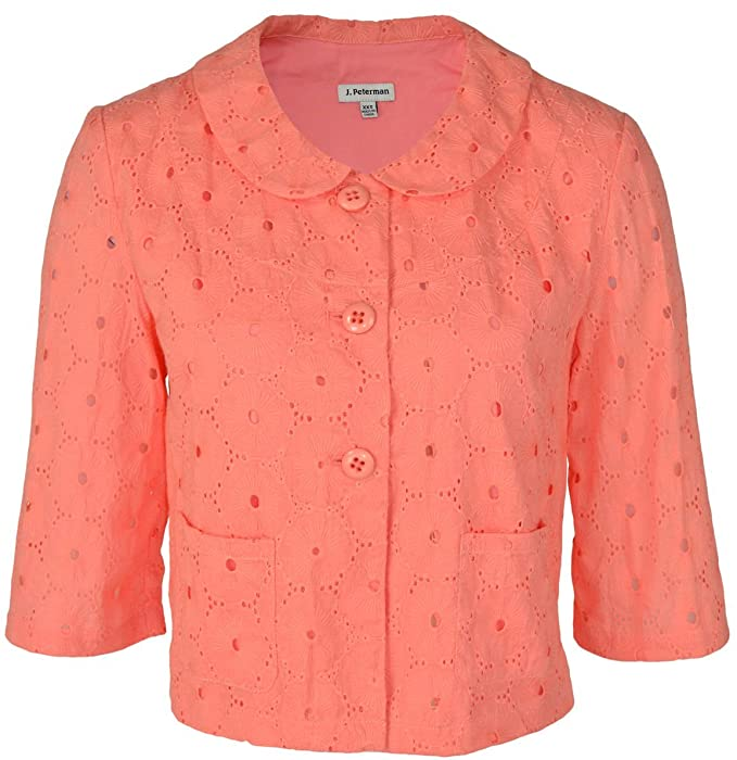 1950s Style Coats and Jackets Eyelet Swing Blazer $147.20 AT vintagedancer.com