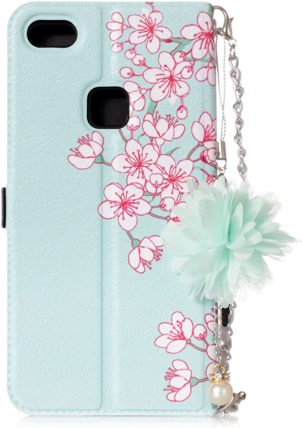 Blaue Rose TOCASO Schutzh/ülle f/ür Huawei P10 Lite Wallet Case Wallet Case Ledertasche Brieftasche mit Lanyard Ultra Slim Book Folio Handyh/ülle Klapph/ülle R/ückseite Stand Karte Halter Magnet