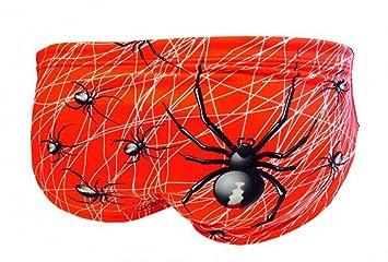 Turbo Bañador aracnid araña Rojo para Hombres Pelotas de Agua de pantalón WP: Amazon.es: Deportes y aire libre