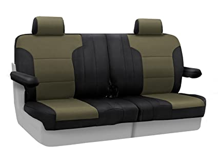 Miraculous Coverking Custom Fit Front 50 50 Split Bench Seat Cover For Select Mercury Grand Marquis Models Spacermesh 2 Tone Taupe With Black Sides Uwap Interior Chair Design Uwaporg