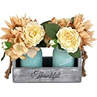 Amazon Price History for:GBtroo Mason Jar Table Centerpiece - Rustic Coffee Table Decor with 2 Mason Jars - Table Centerpieces for Dining Room…