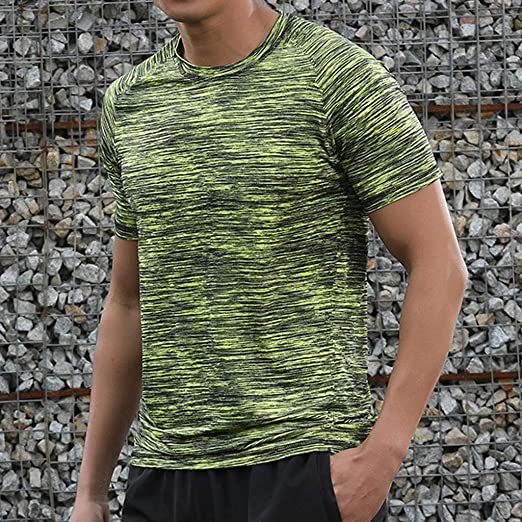 Incorra Camiseta informal de manga corta para hombre, cuello ...