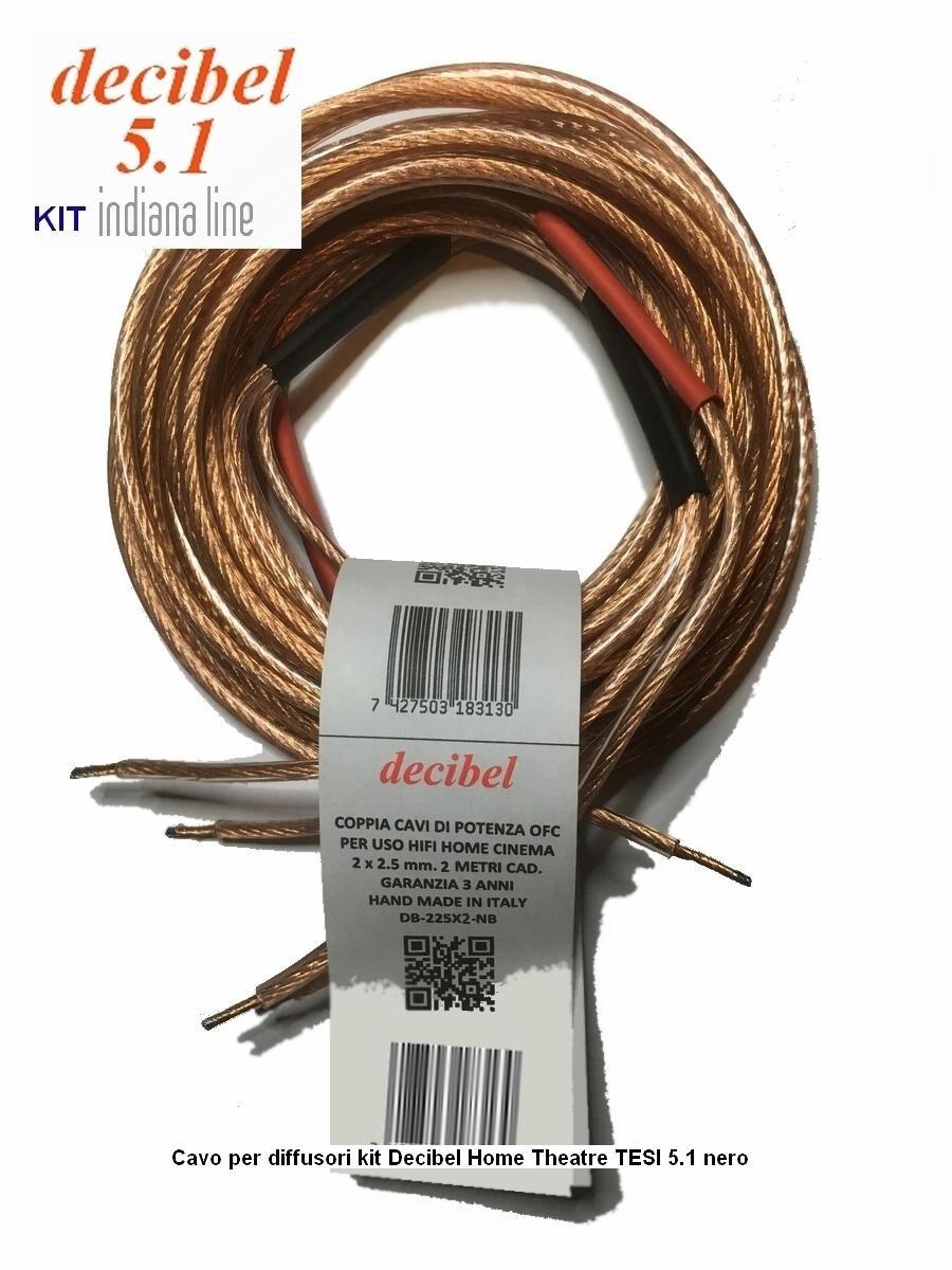 Indiana Line TESI 261 Decibel Kit completo Home Cinema 5.1 con cable OFC de calidad: Amazon.es: Electrónica