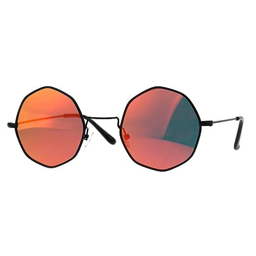 84bfe26d27f Amazon.com  Round Octagon Shape Sunglasses Vintage Thin Metal ...