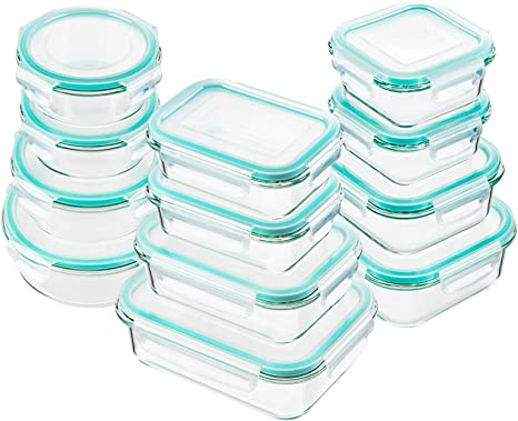 Bayco Glass Food Storage Containers - Set of 12