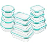 Bayco Glass Food Storage Containers with Lids, [24 Piece] Glass Meal Prep Containers, Airtight Glass Bento Boxes, BPA…