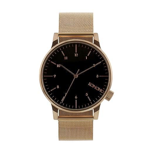 Komono Winston Royale - reloj de pulsera para hombre de oro rosa - Negro, talla