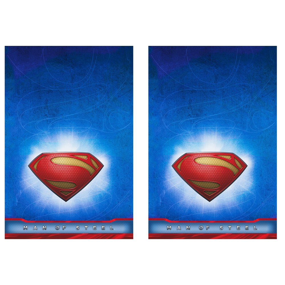 Man of Steel Superman Plastic Tablecovers 2 Pieces by Hallmark