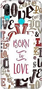 Stylizedd Huawei Y7 Prime (2019) Slim Snap Basic Case Cover Matte Finish - Born To Love