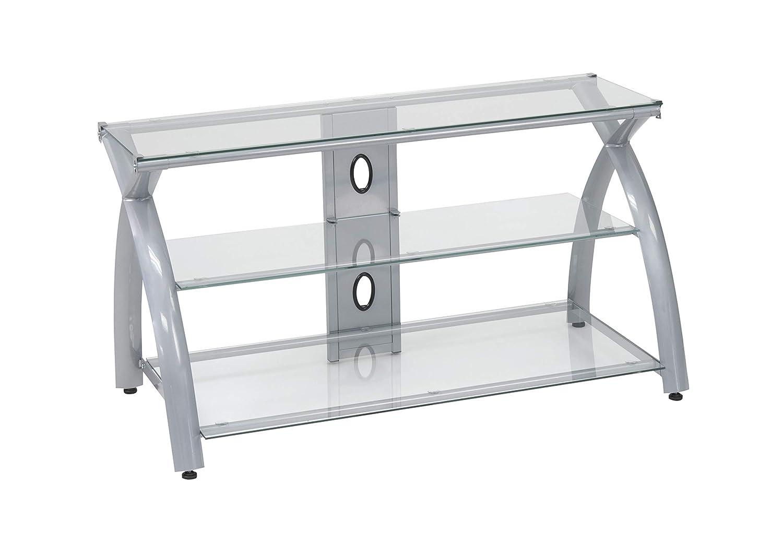 Futura TV Stand – Silver Clear
