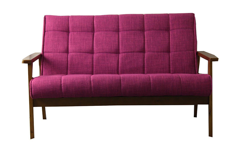 1人掛け 北欧ソファ 2人掛け カウチソファー コンパクト ピンク, 二人掛け B078XHZ5QR ピンク 二人掛け