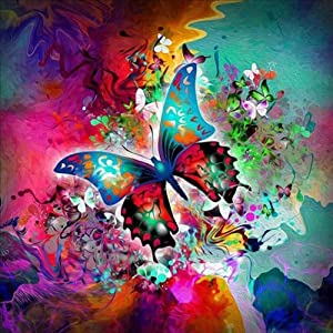 NEILDEN 5D Full Drill Diamond Painting Kit, DIY Diamond Number Rhinestone Painting Kits for Adults and Children Embroidery Diamond Arts Craft Home Decor 13.7×13.7 inch