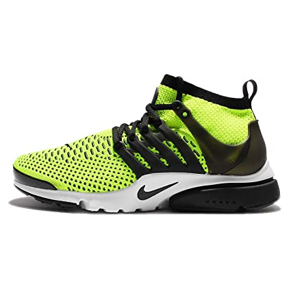 buy online 3d302 9b241 Image Unavailable. Image not available for. Color  Nike Air Presto Ultra  Flyknit 835570-701 Volt White Black Men s Running Shoes