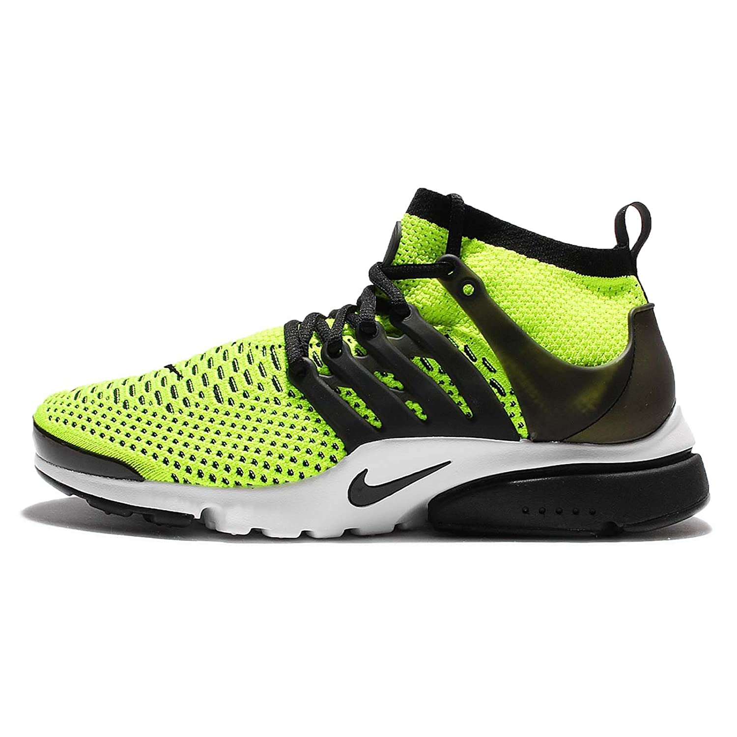 best service 32680 ef93f Amazon.com  Nike Air Presto Ultra Flyknit 835570-701 Volt White Black Men s  Running Shoes (Size 8)  Sports   Outdoors