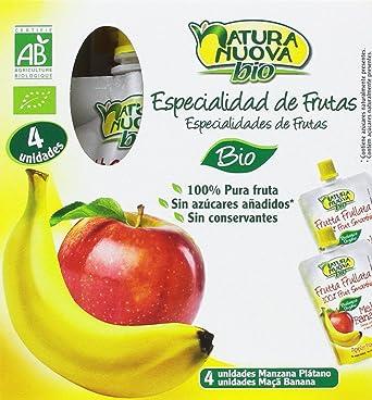 Multipack puré de manzana y plátano Doypack (4x100) - Natura Nuova ...