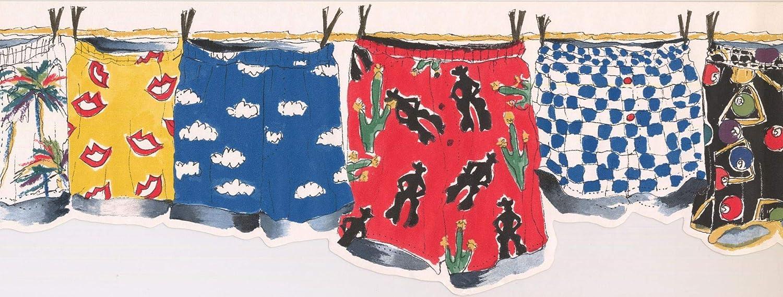 Laundry Wallpaper Border OR144B