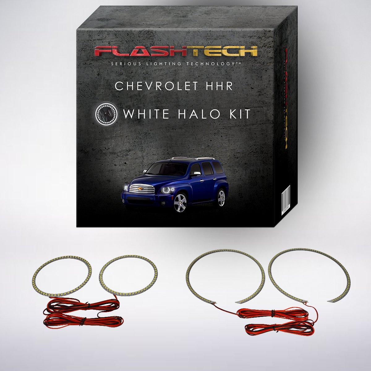 Flashtech Chevrolet Hhr 06 11 Red Single Color Led Halo 2009 Headlight Wiring Harness Ring Kit Automotive