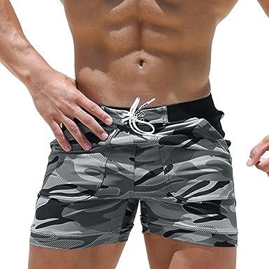 incroyable sélection usa pas cher vente taille 7 MuSheng Homme Slip de Bain,/de Nouveaux Hommes Sexy Beach Pantalon Short  Boxer Maillot de Bain des Rayures de Couleur