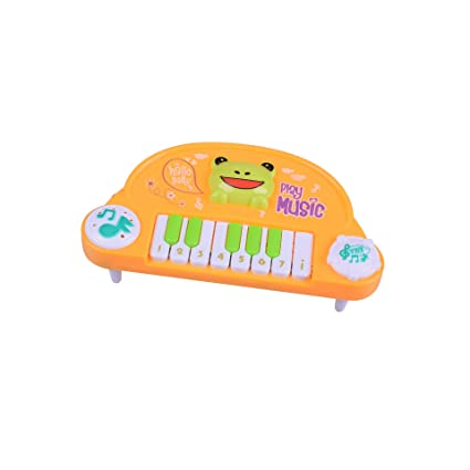 SKNSM Gracioso Baby Kids Toddler Musical Piano Animal Teclado electrónico Juguetes (Amarillo) para niños