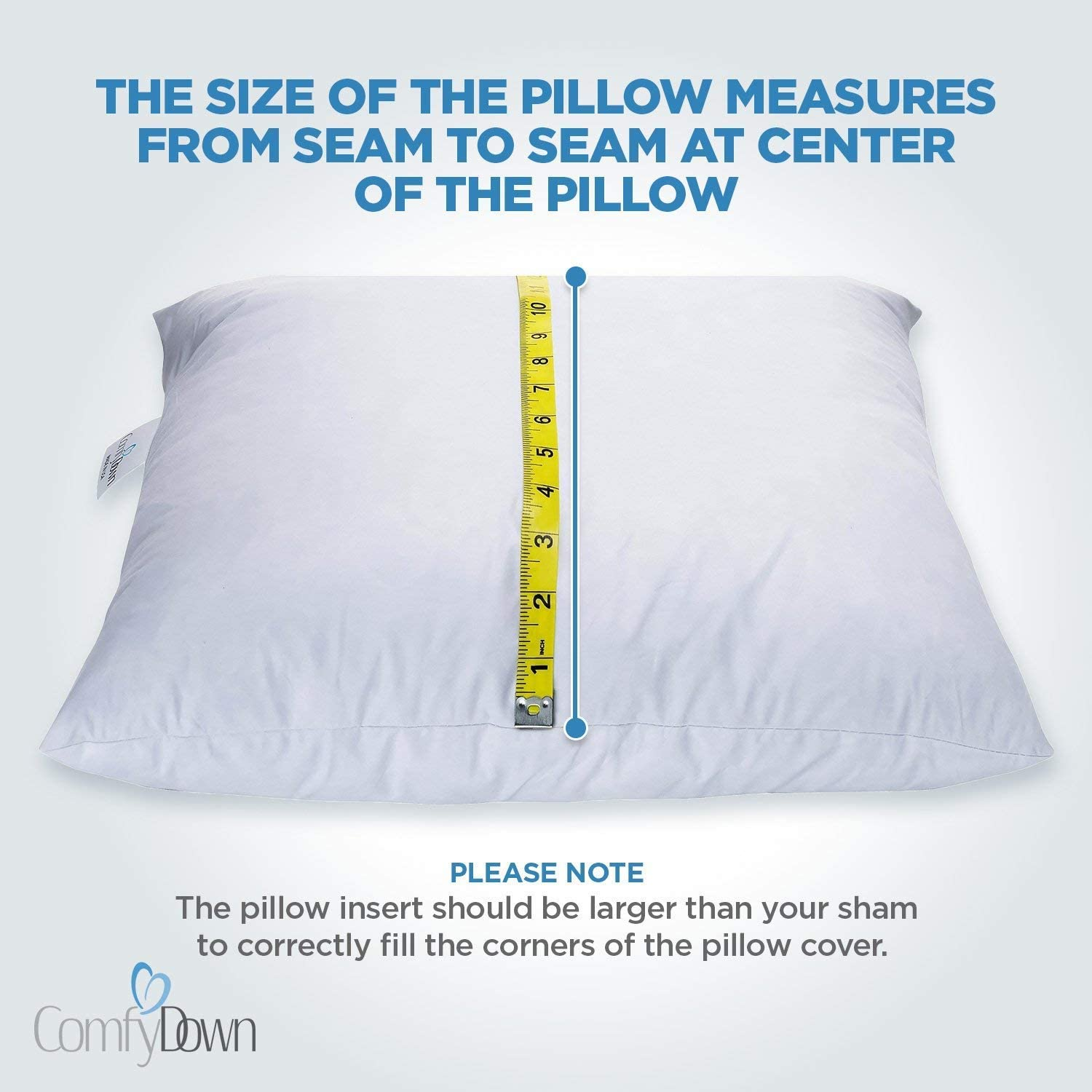 Amazon Com Comfydown 95 Feather 5 Down 24 X 24 Square Decorative Pillow Insert Sham Stuffer Made In Usa Home Kitchen