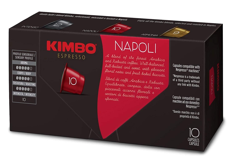 Kimbo Espresso Napoli Nespresso Capsules, 100% Arabica Coffee (Pack of 100 Capsules): Amazon.com: Grocery & Gourmet Food