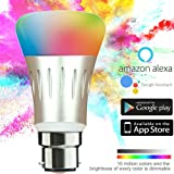 Hans Lightings Smart Light, Smart WiFi LED Bulb Dimmable 7W 16 Million Colors B22 Base Compatible with Alexa Google Home Remote Control by iPhone & Android 50W Equivalent 1 Year Warranty