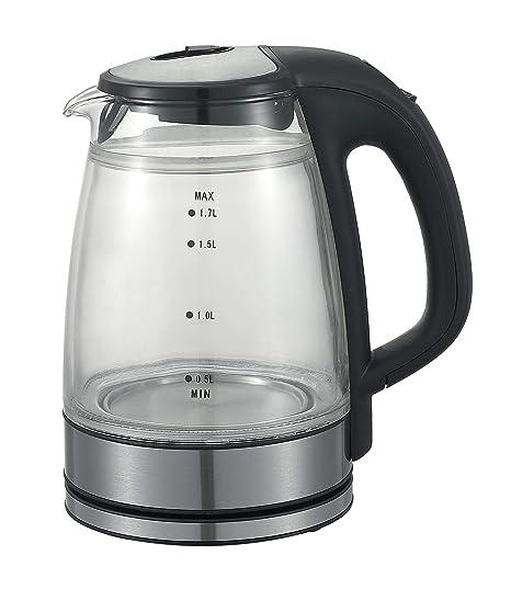 Amazon.com: Queen Sense - Tetera eléctrica (sin BPA, cristal ...