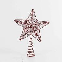 Euro Flora Çam Ağacı Tepe Yıldızı Kırmızı 24x5x33 Cm
