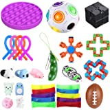 bopel 30 Pcs Sensory Fidget Toys Set, Stress Relief and Anti-Anxiety Tools Bundle Toys Assortment,Stocking Stuffers for…